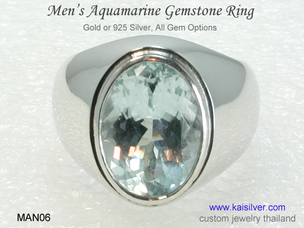 mens aquamarine ring wedding