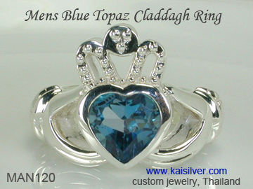 claddagh wedding ring for men