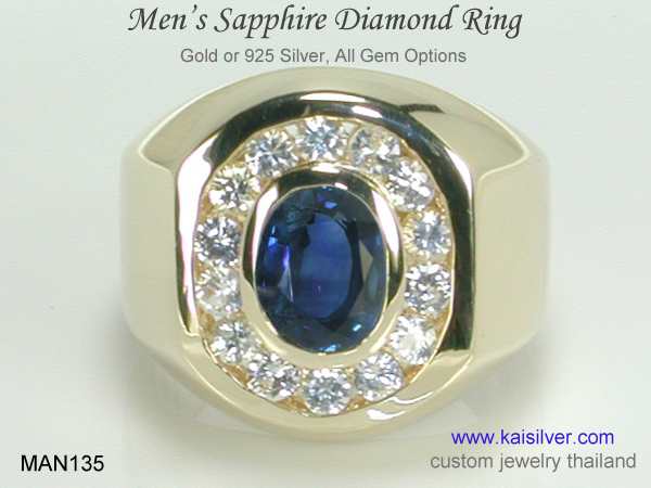 sapphire ring for men wedding