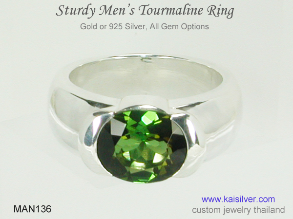 men's tourmaline wedding ring