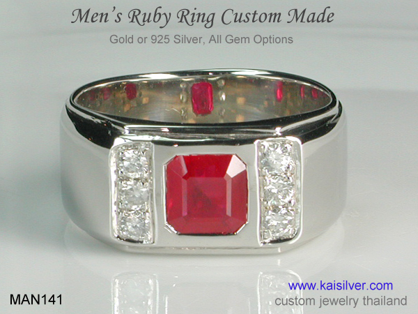 ruby wedding ring gold for men