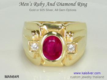 men's ruby wedding ring